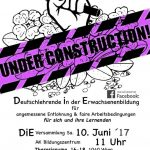 Einladung zum nächsten D.i.E Treffen - am 10. Juni,  11 - 15 Uhr in der Arbeiterkammer
